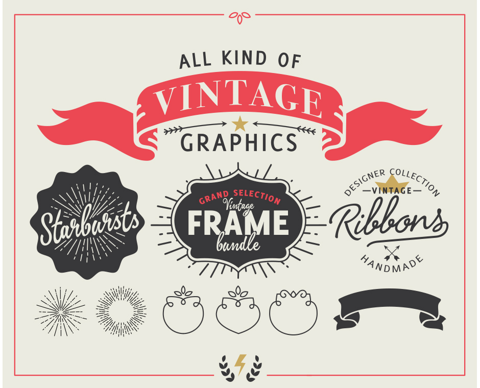 240 Styled Ribbons, Starbursts & Shapes Vector Graphics