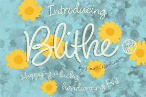 Blithe Handwriting Font