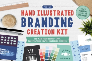 The Hand Illustrated Branding Creation Kit