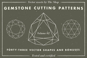 Gemstone Shape Cutting Pattern Volume 02