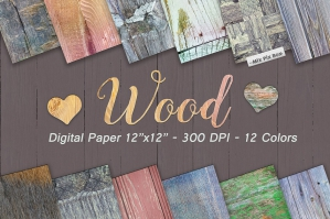 Digital Wooden Textures Paper