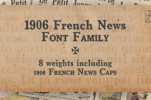 1906 French News Font Family