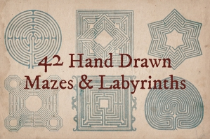 42 Hand Drawn Mazes