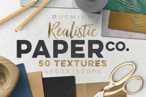 50 Realistic Paper Textures