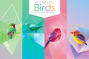 Geometric Birds Collection