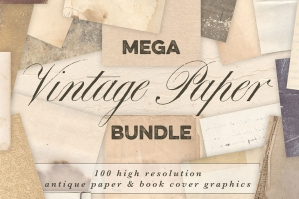 Vintage Paper Book Cover Bundle