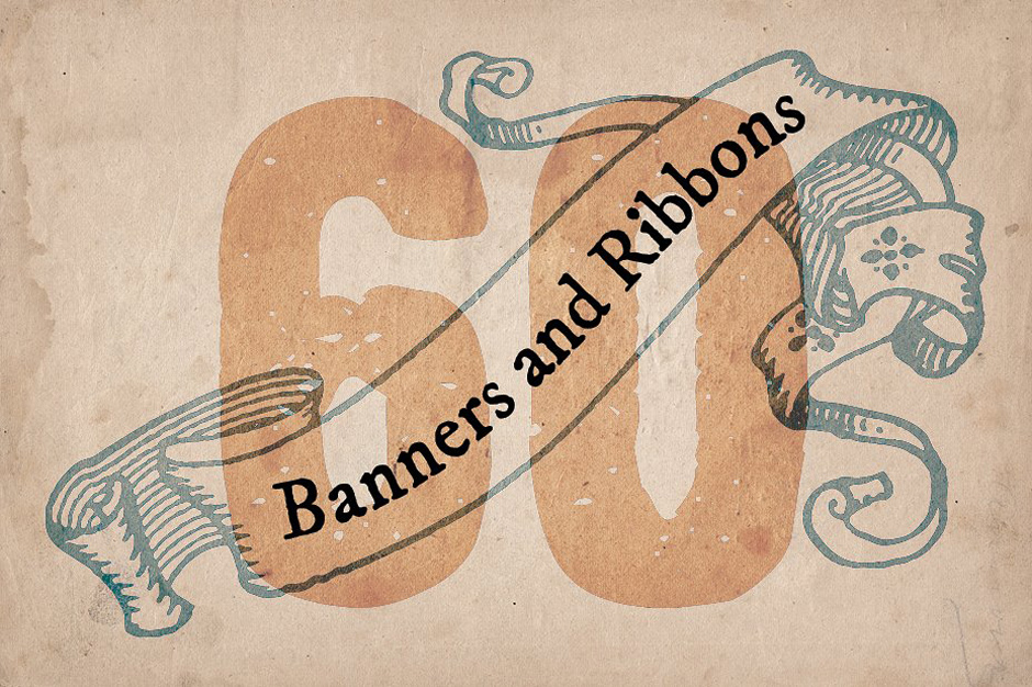 Hand Drawn Banners and Ribbons