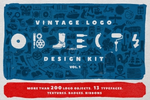 Vintage Logo Kit: Objects + Fonts