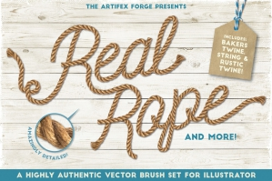 Real Rope Illustrator Brushes
