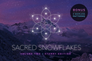Sacred Snowflakes Vector Set Vol. 2