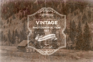 Vintage Effect Photoshop Action Set
