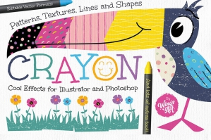 Wax Crayon Patterns & Textures