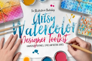 Artsy Watercolor Designer Toolkit