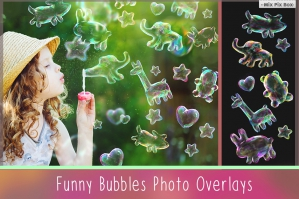 Funny Animal Soap Bubble Overlays