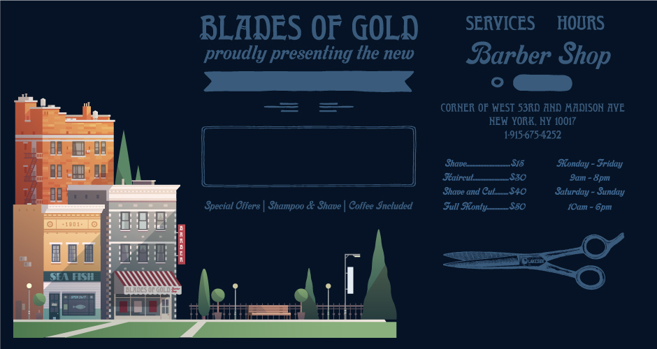 Vector Building Woodcut Text and Vintage Elements