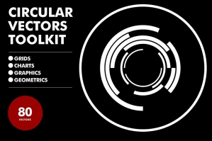 Circular Vectors Toolkit 80 Items