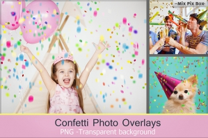 Confetti Overlays & PS Brushes