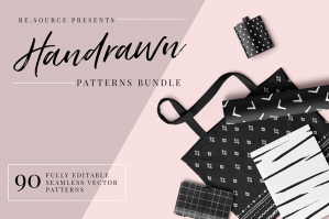 Handrawn Ink Seamless Pattern Bundle