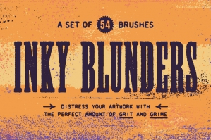 Inky Blunders Distressing Brushes