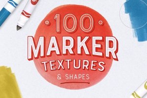 100 Marker Textures & Shapes