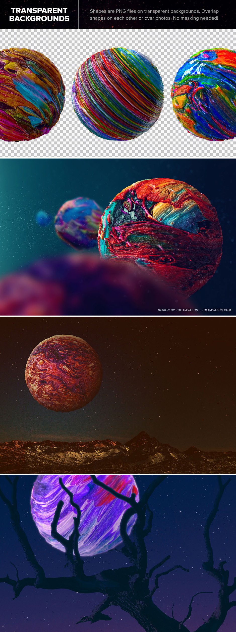 abstract 3d shapes