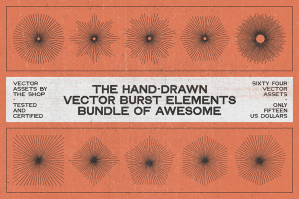 The Hand-Drawn Vector Burst Elements Bundle