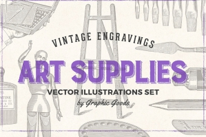 Art Supplies - Vintage Illustrations