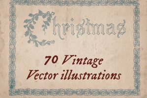 70 Vintage Christmas Illustrations
