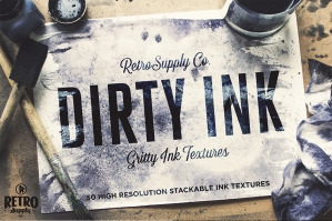 Dirty Ink Wash Textures