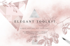 Elegant Textures, Elements and Patterns Toolkit