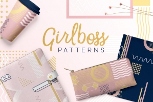 Girlboss Geometric Shape Patterns