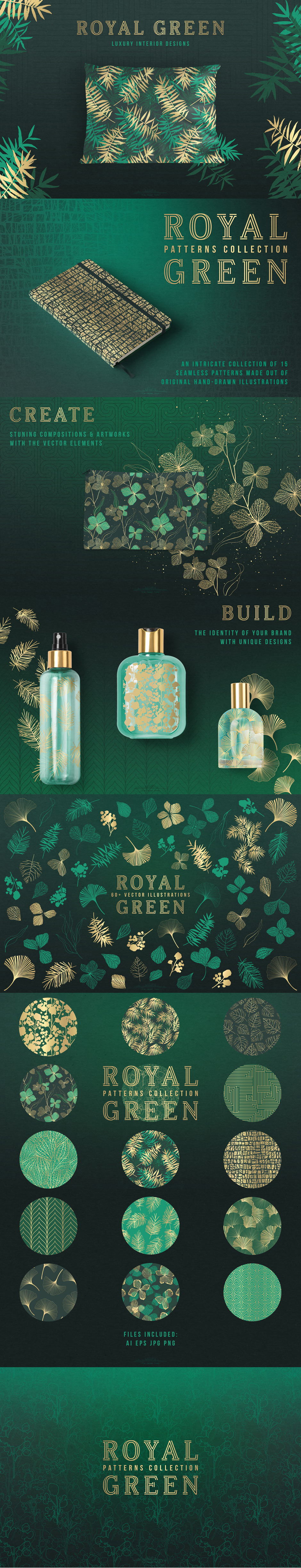 Royal Green Patterns Collection