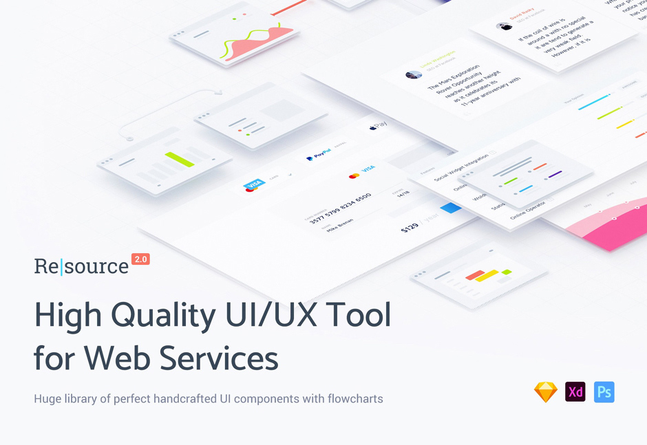 UI & UX Components for Web Service