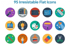 95 Irresistible Flat Icons