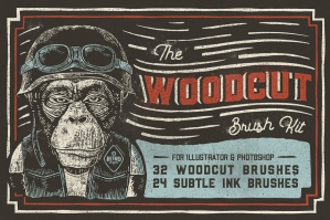 The Woodcut Brush Kit