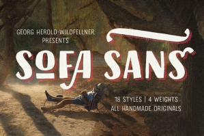 Sofa Sans – Hand Drawn Sans-Serif Fonts