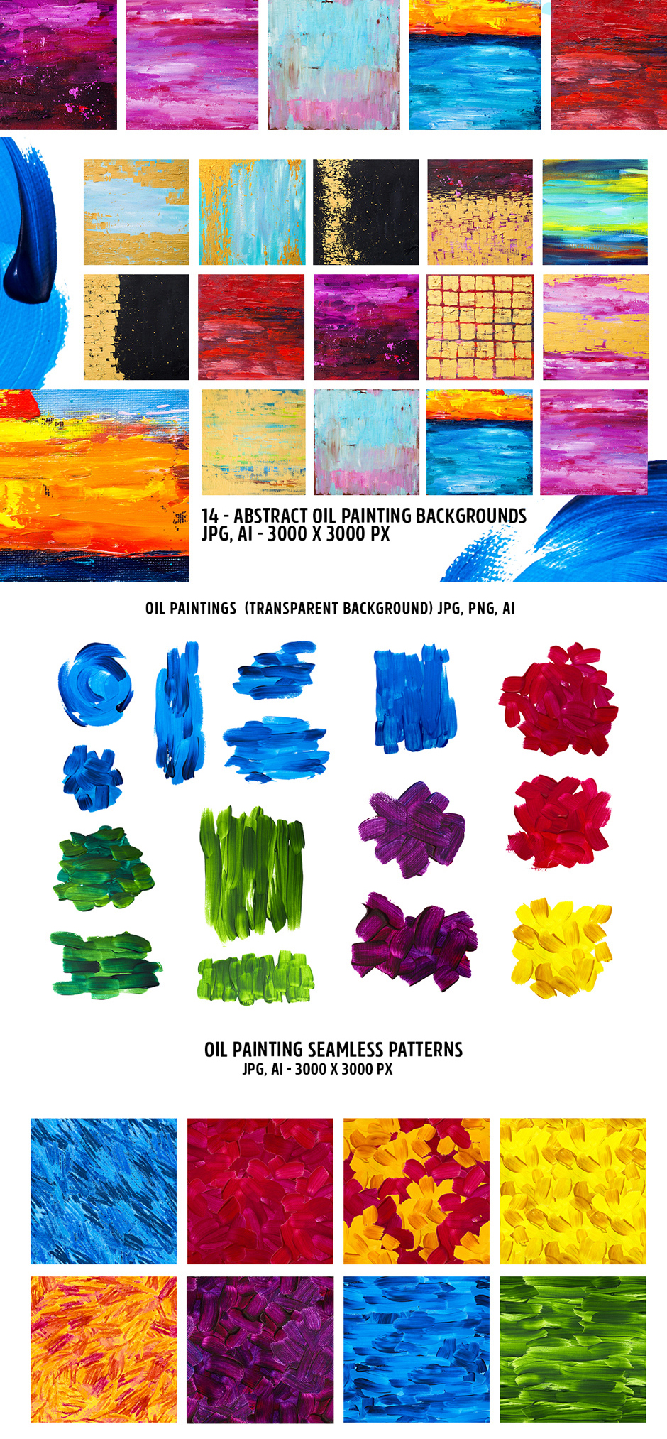 Abstract Oil Painting Design Kit