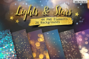 Lights and Stars Clipart Backgrounds