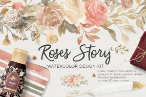 Watercolor Roses Story