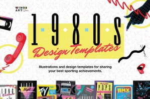 1980's Retro Design Templates