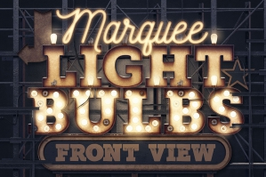 Marquee Light Bulbs - Front View