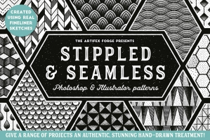 Stippled & Seamless – Fineliner Patterns