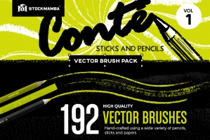 Conté Vector Brush Pack – Volume 1