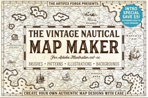 The Vintage Nautical Map Maker