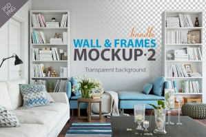 Wall & Frames Mockups - Bundle Vol. 2