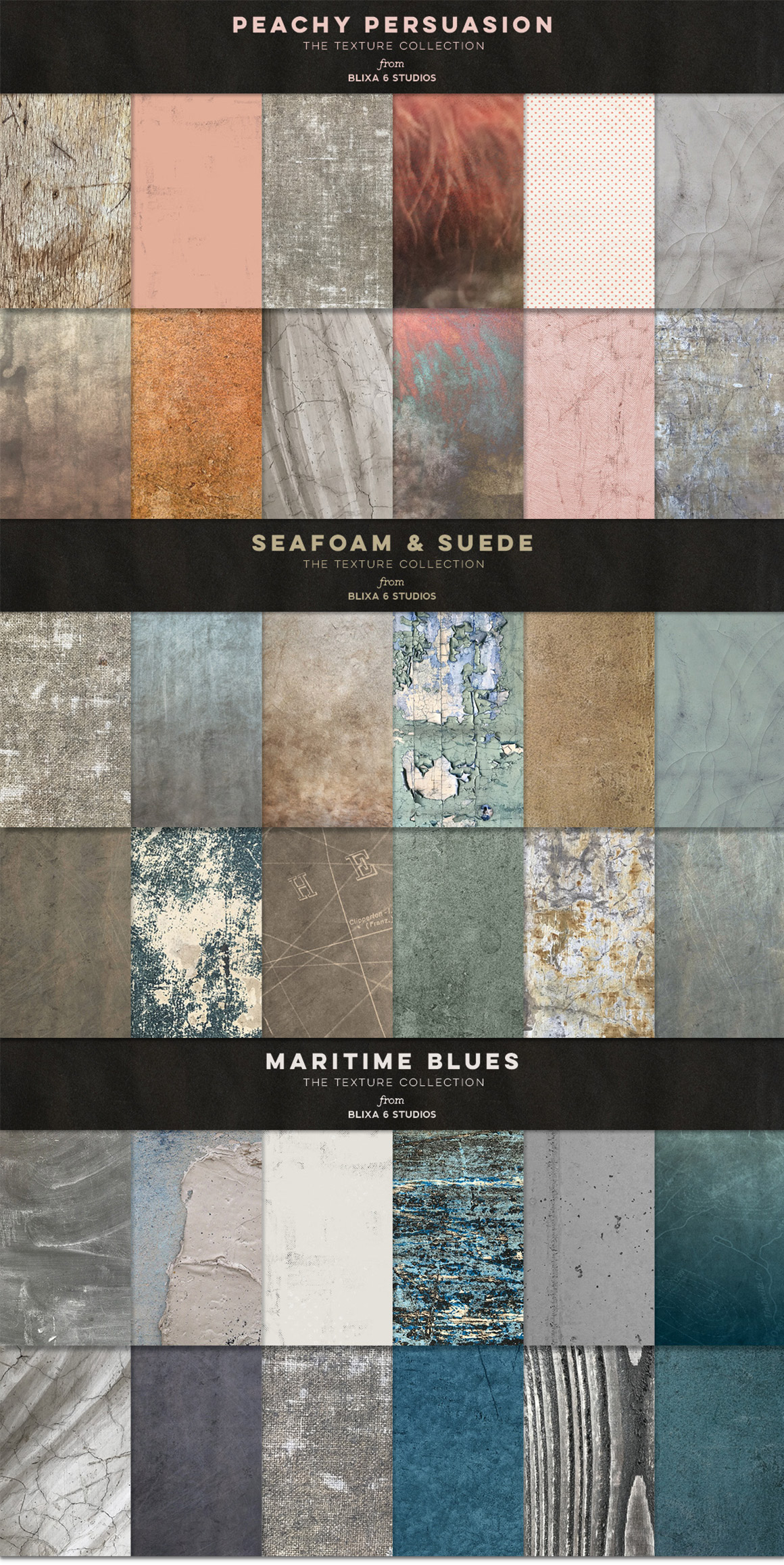 36 Gritty & Distressed Textures