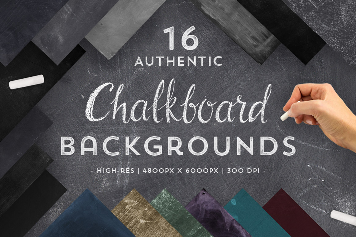 16 Authentic Chalkboard Textures