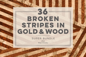 36 Broken Stripes in Gold & Wood