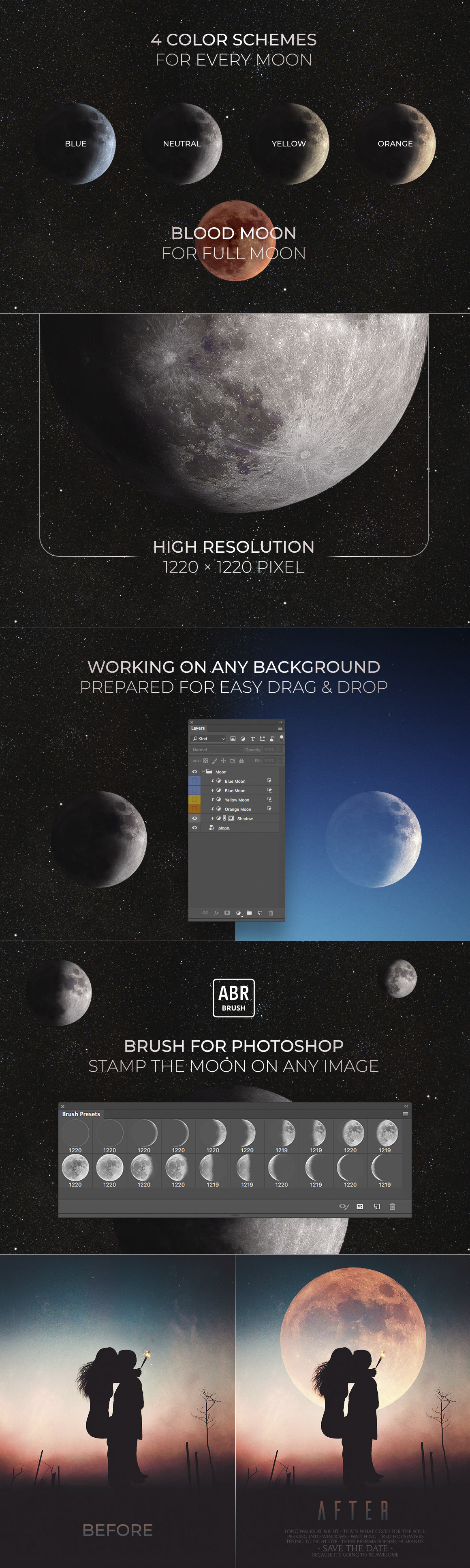 High-Res Moon Cycle for Image Editing