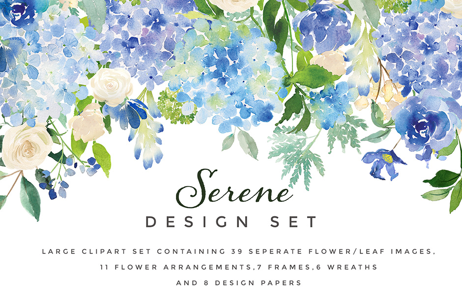 Serene Flower Clipart Set